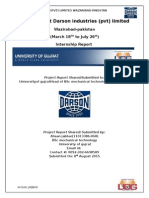 Internship at Darson Industries (Pvt) Limited