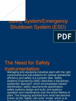 Safety System - Emergency Shutdown System P1