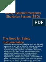 Safety System - Emergency Shutdown System P1