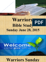 Warriors SS Bible Study June 28 2015.pptx