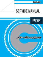 Daelim B-Bone 125cc Service Manual 27MB