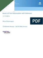 Basics of Test Automation With Selenium