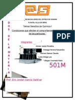 Reporte de Quimica calorimetria