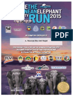 Save the Bornean Elephant Run 2015 certificate
