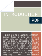 Zinc Oxide Eugenol Cement