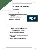Finance423 Class Recapitalizations Swaps