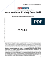 CSAT Sample Paper-II