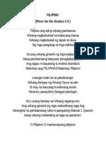 Tula Sa Filipino