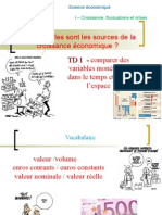 TD 1 Comparaison de Variables Dans Le Temps Euros Courants Euros Constants