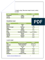 "Egyptian Arabic ""Foods"" Lesson 8"