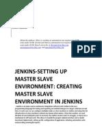 Jenkins - setting Up Master Slave Environment-creating Master Slave Environment