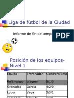 Liga de fútbol de la Ciudad