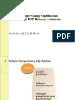 1. Bahasa Indonesia Pengembang Kepribadian