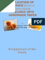 Utilization of Orange (Citrus Reticulata) Peelings Into