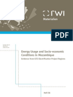 Energy Usage and Socio-economic Mozambique