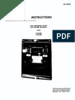 GE IFCV Manual