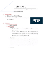 Lesson Plan in Physical Education