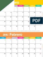 calendario 2015 colorido