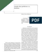 A Desmilitarização Das Polícias e a Legislação Ordinária R165-21