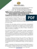 Nota de Prensa 038 - Presentación Proyecto Por La Conservación de Ecosistemas Naturales de Las Sub Cuencias Del Colca y Cotahuasi