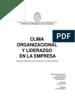 Clima organizacional y liderazgo en la empresa