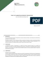 Programa Admón. Financiera y Presupuestaria 2015