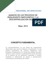 Balance Del Proceso Del Presusupuesto Regional 2015