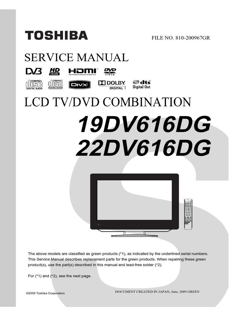 Toshiba 22dv616dgpdf Television Technology Photo Flash At 15 Volts By D965