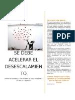 Informe de la veeduría al cese unilateral del fuego de las FARC. Julio 20 – Agosto 20, 2015