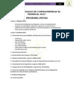Programa - Viii Olimpiadas de Confraternidad El Pedregal 2015