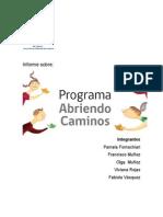 Informe Programa Abriendo Caminos .