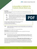Opening-Prayer-Service - Catholic Schools Week 2014