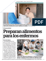 Preparan alimentos para los enfermos