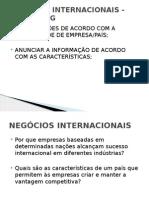 Aula 6 - Negocios Internacionais - Mkt Em Mercado Global