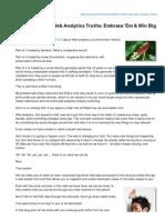 10 Fundamental Web Analytics Truths