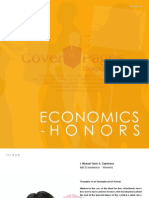Economics - Honors