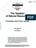 Taxtion of Natural Resourcs (Principles and Policy Issues) by R. Boadway and Flatters