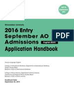 Ritsumeikan University 2016 Application Handbook