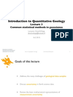 Common Statistical Methods in Geoscience
