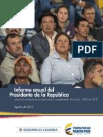 Informe Anual Presidente de La República Agosto 2015