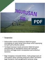 Pengurusan air dalam pertanian