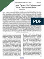 Sustainable Organic Farming for Environmental Health a Social Development Model