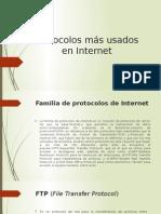 Protocolos Más Usados en Internet