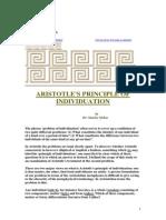 Aristotle's Principle of Individuation