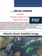 Tropical Update for Thursday Morning for Tropical Storm Erika