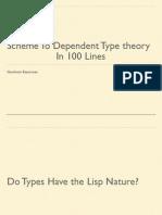 Scheme to Type Theory