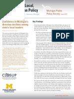 Michigan Public Policy Survey Summer 2015