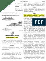 ACUERDO CORTE SUPREMA DE JUSTICIA 11-2015