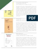 Catálogo Libros