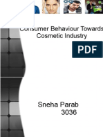 Consumer Behaviour towards cosmetic induatry